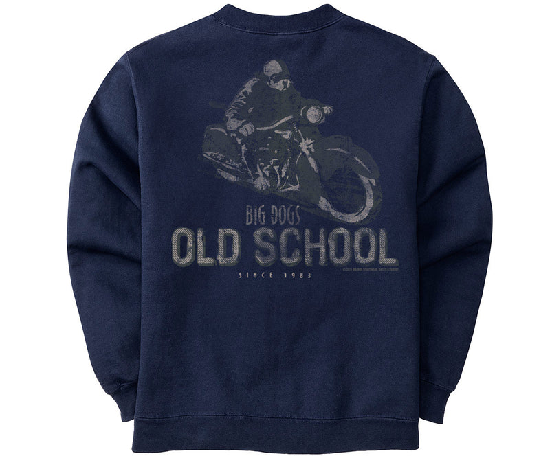 Big Dogs Old School Biker Graphic Crew
