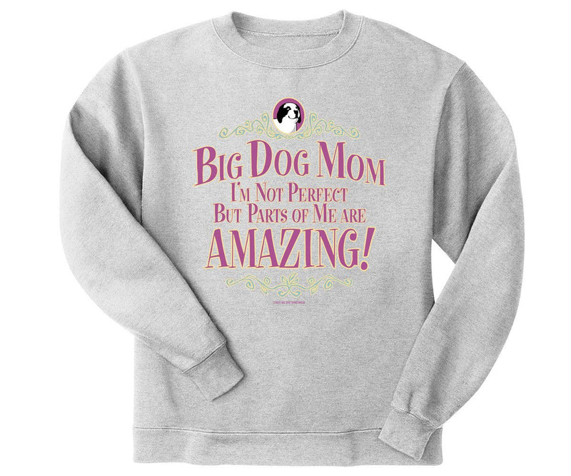 Big Dog Mom Not Perfect Graphic Crew
