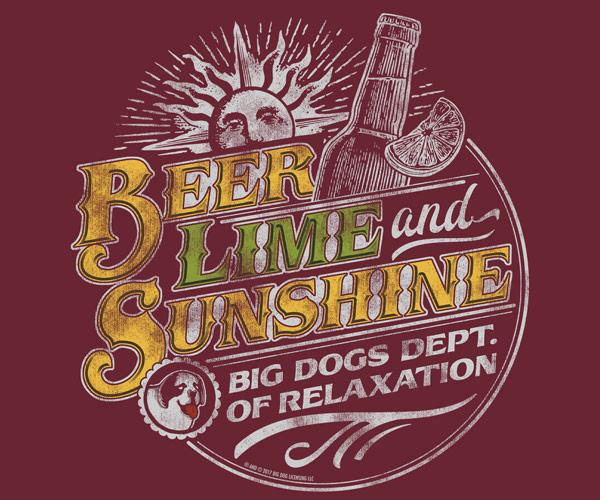 Beer Lime and Sunshine Graphic Crew