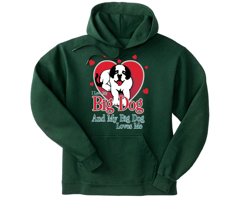 Love My Big Dog Graphic Hoodie
