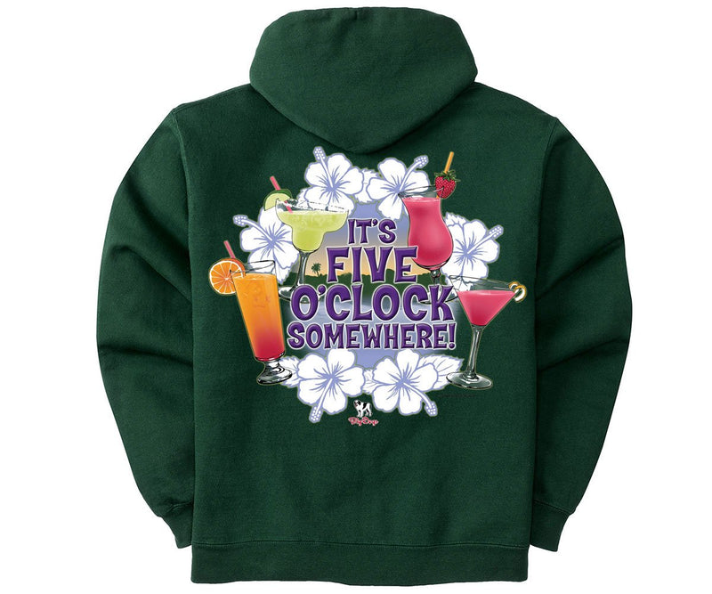 Five O'Clock Tropical Graphic Hoodie