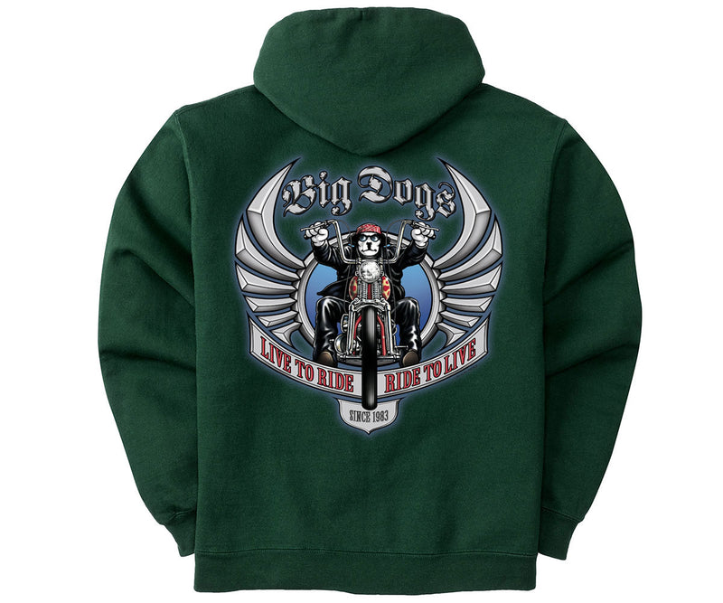 Live To Ride Motorcycle Graphic Hoodie