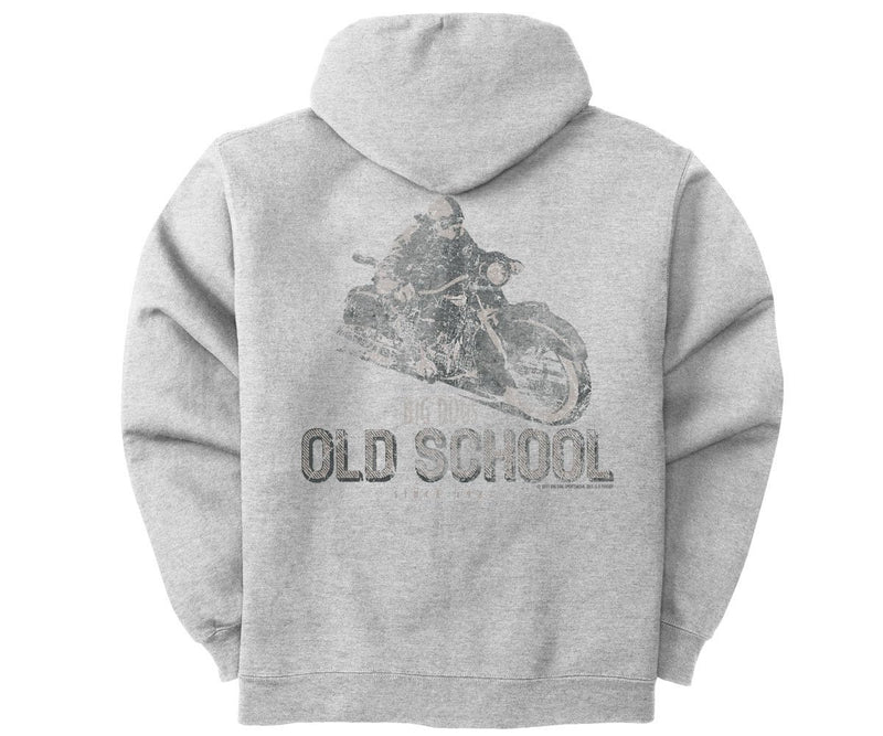 Big Dogs Old School Biker Graphic Hoodie