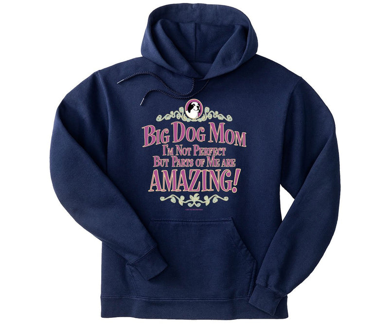 Big Dog Mom Not Perfect Graphic Hoodie