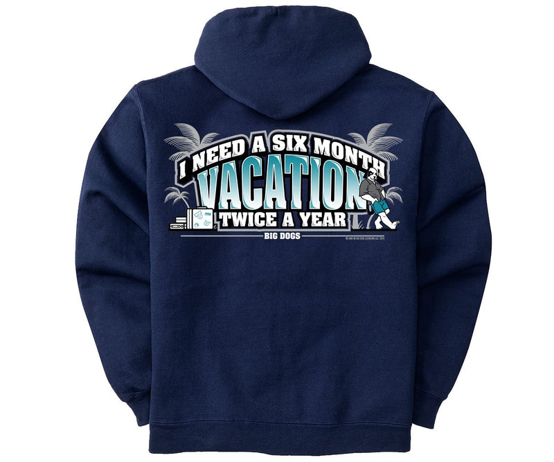 6 Month Vacation Graphic Hoodie