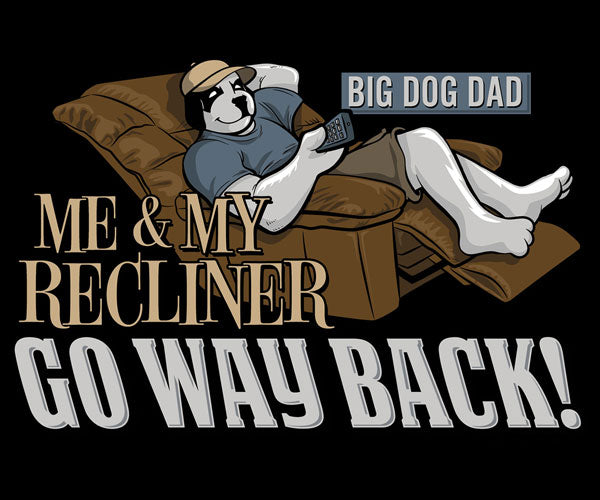 Big Dog Dad Recliner Graphic Hoodie