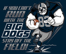 Run With The Big Dogs Football Graphic Hoodie