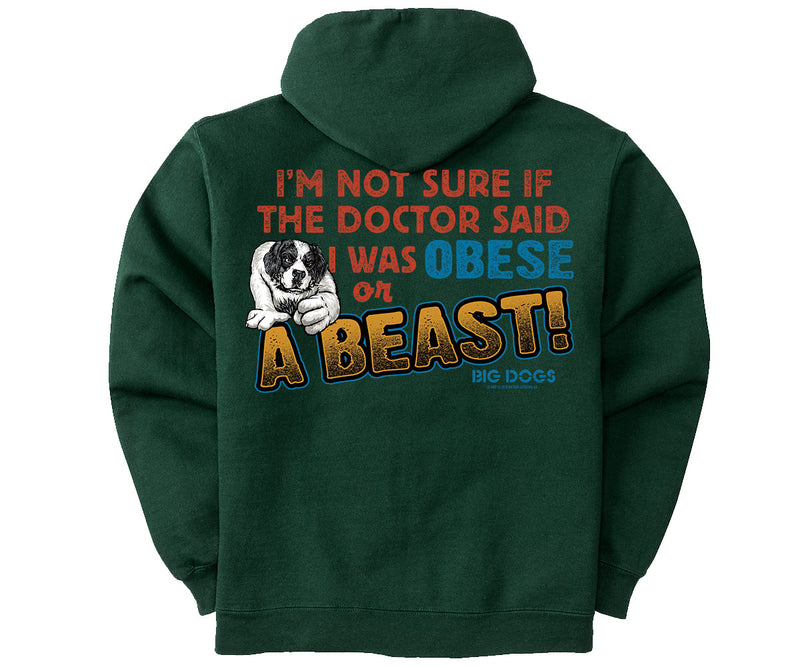 A Beast Graphic Hoodie