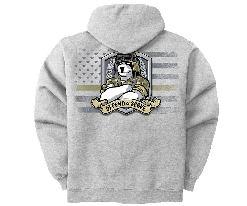Defend and Serve Graphic Hoodie
