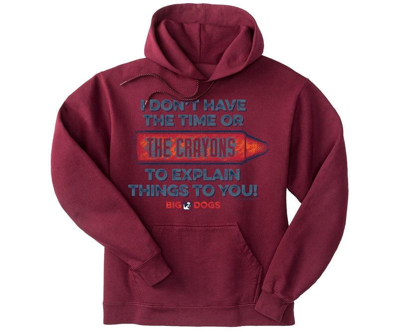 Time or Crayons Graphic Hoodie