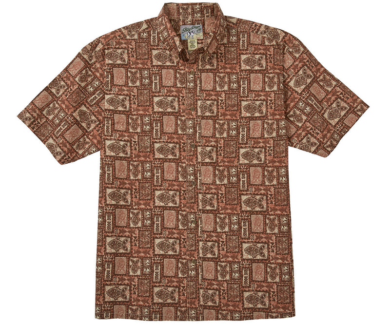 Tribal Fish Box Cotton Shirt
