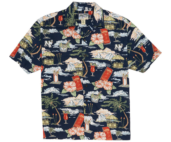 Hula Hut Lounge Rayon Shirt