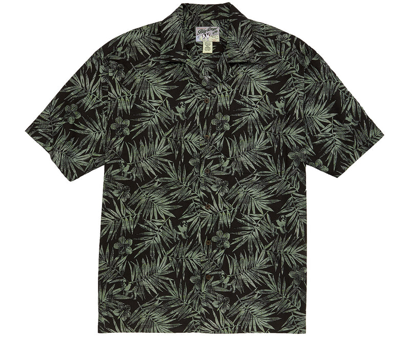 Woodcut Ferns Rayon Shirt
