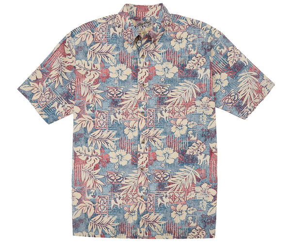 Hibiscus and Fern Cotton Shirt