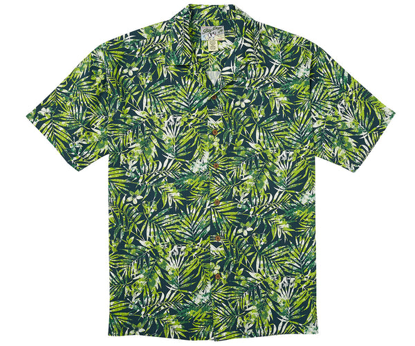 Tropical Fern Textured Rayon Shirt