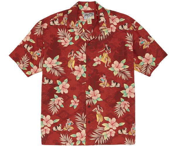 Hula Sunset Rayon Shirt