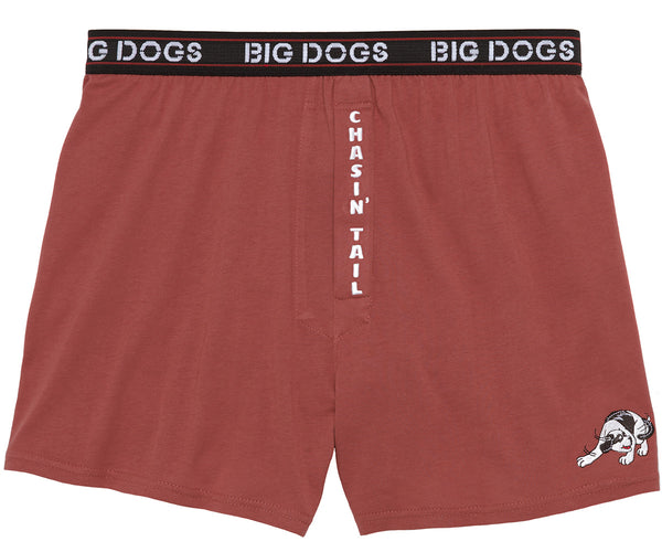 Chasin' Tail Embroidered Knit Boxers