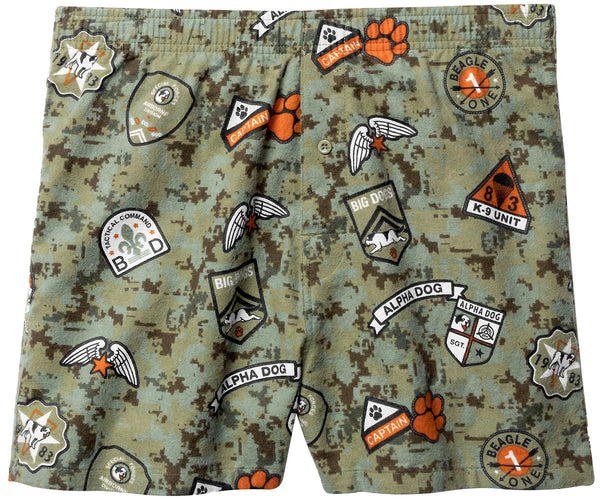Alpha Dog Printed Flannel Boxers
