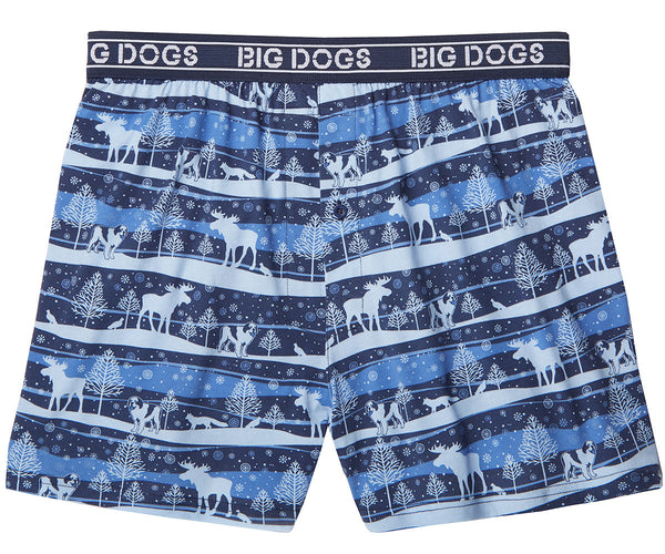 Winter Wonderland Printed Knit Boxers