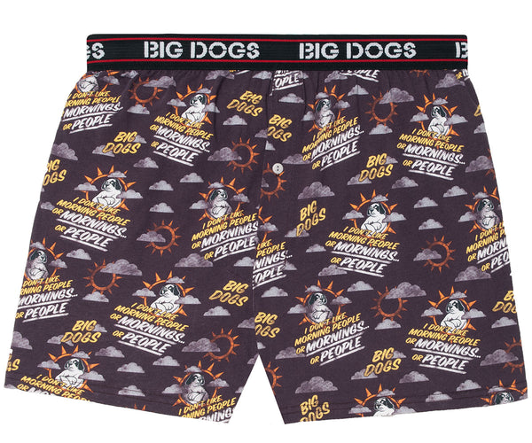 Big Dogs Smart Ass Embroidered Knit Boxers