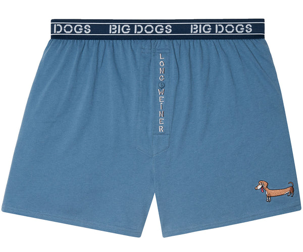 Long Weiner Embroidered Knit Boxers