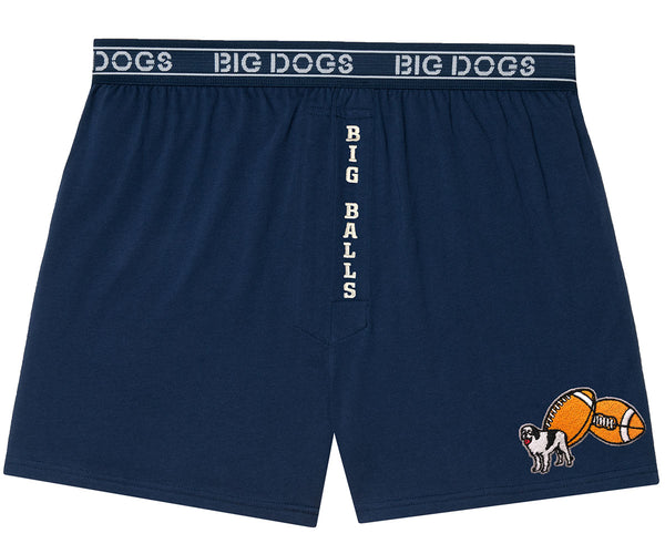 Big Balls Football Embroidered Knit Boxer