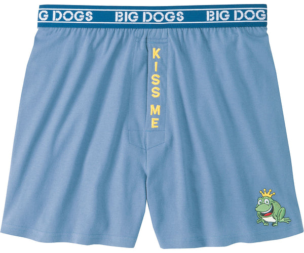 Kiss Me Embroidered Knit Boxers