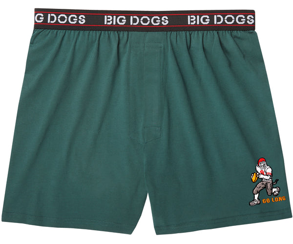 Go Long Football Embroidered Knit Boxers