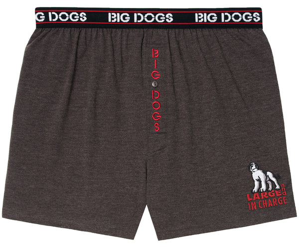 Large and In Charge Embroidered Knit Boxers
