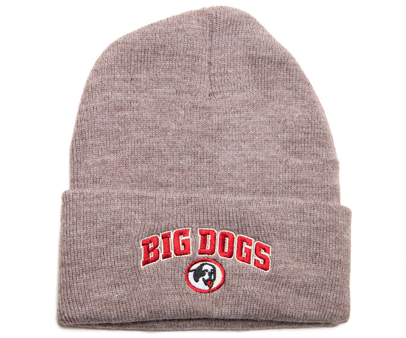 Big Dogs Embroidered Knit Beanie with Cuff