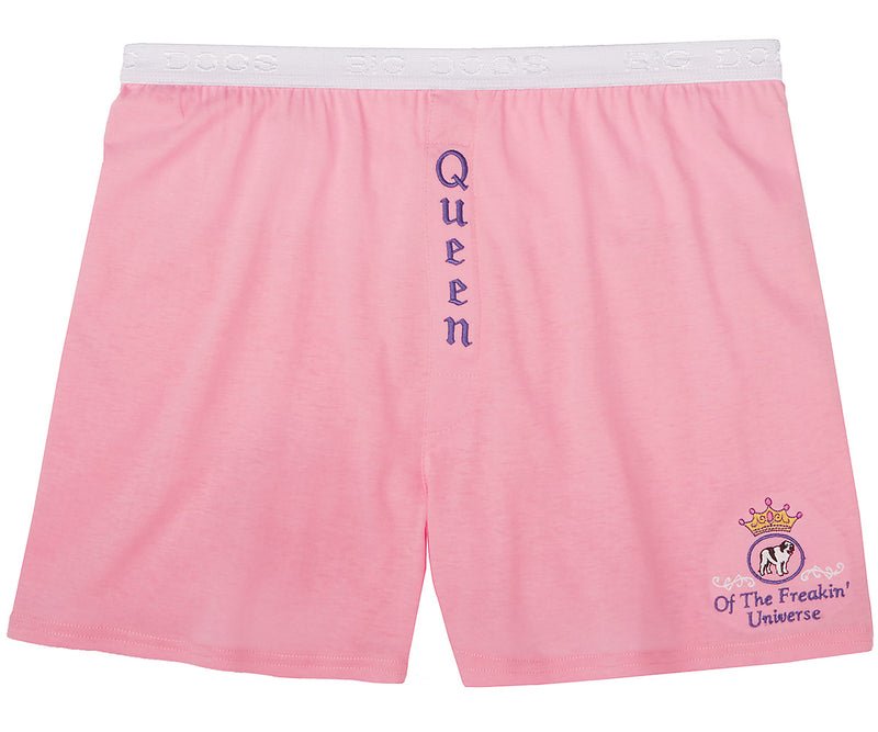 Women's Queen Of The Freakin' Universe Embroidered Knit Boxer
