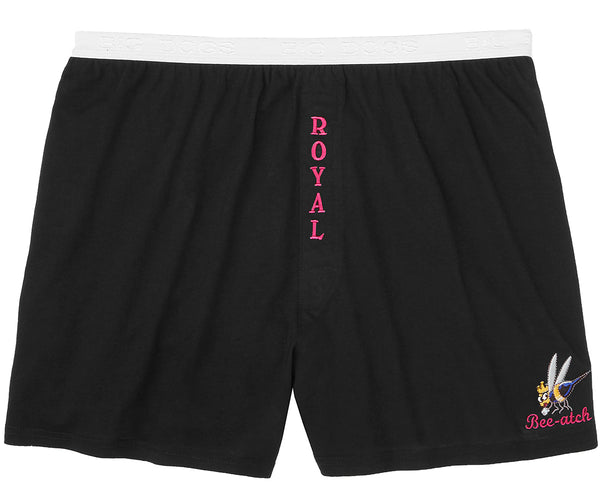 Women's Royal Bee-atch Embroidered Knit Boxer