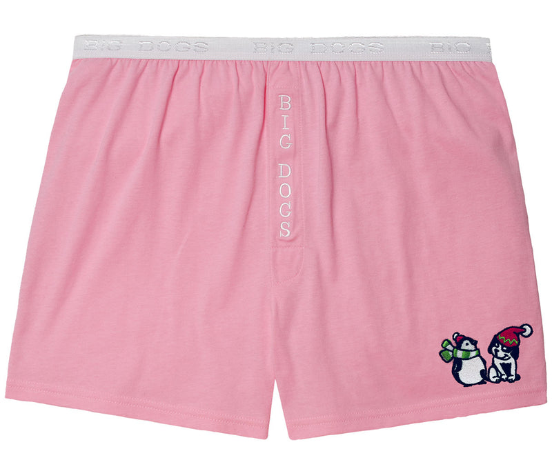 Women's Big Dog & Penguin Embroidered Knit Boxers