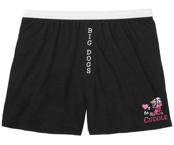 Women's Loves To Cuddle Embroidered Knit Boxers
