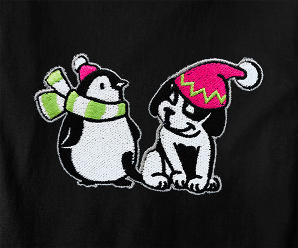 Big Dogs and Penguin Embroidered Lounge Shirt