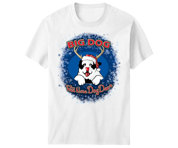 Red Nose Dog Deer Kids & Youth T-Shirt
