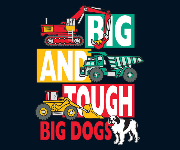Kids Big And Tough Trucks T-Shirt