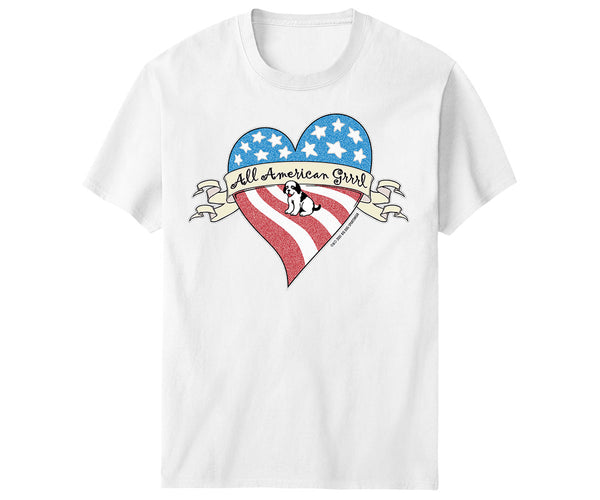 All American Grrrl T-Shirt - Kids
