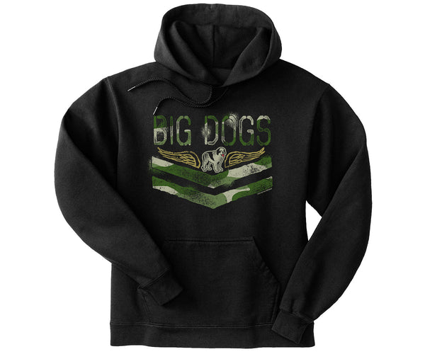 Big Dogs Camouflage Kids Graphic Hoodie