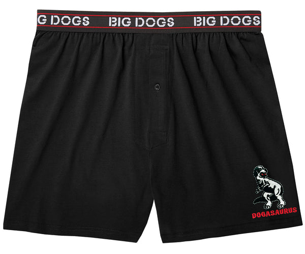 Dogasaurus Embroidered Knit Boxer