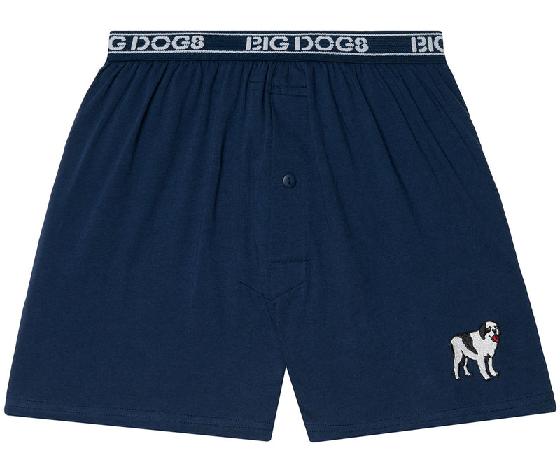 Big Dog Logo Embroidered Knit Boxer