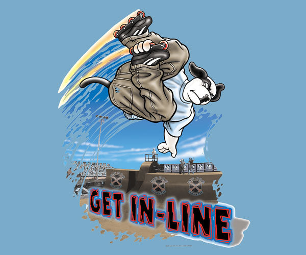 Get In Line Skating T-Shirt