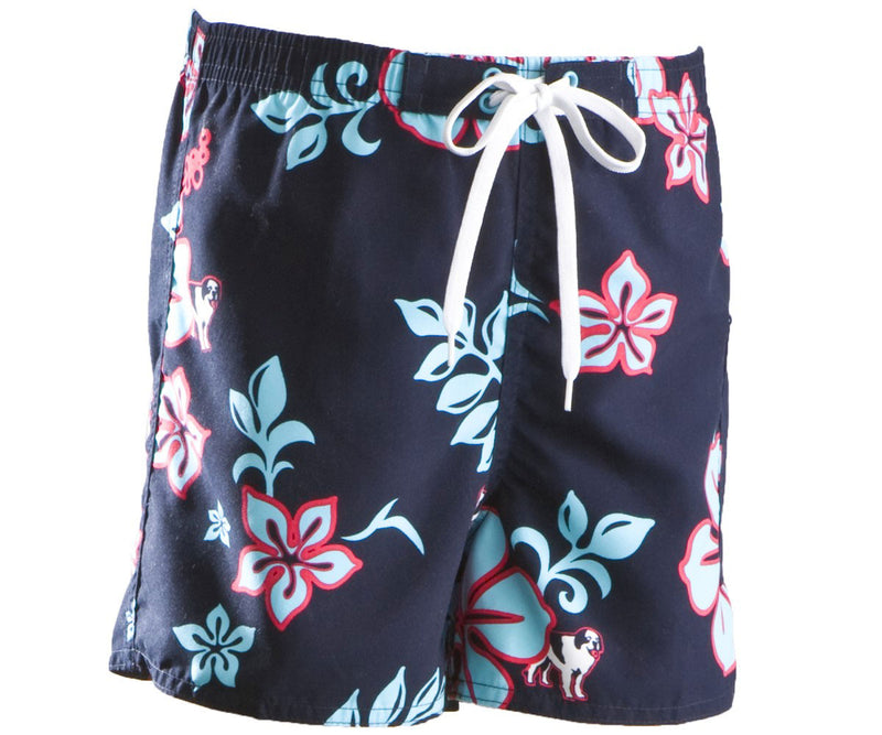 Girls Blue Hibiscus Boardshort