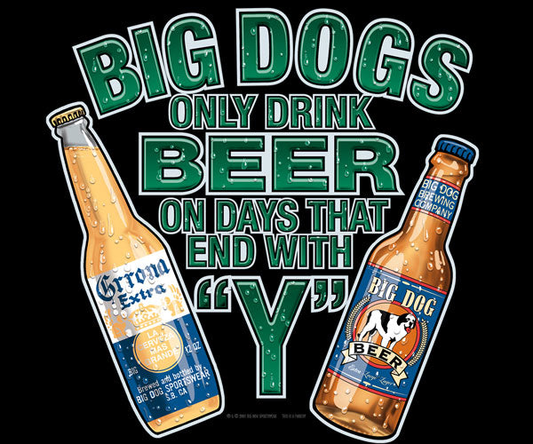 Only Drink Beer On Days That End In 'Y' T-Shirt