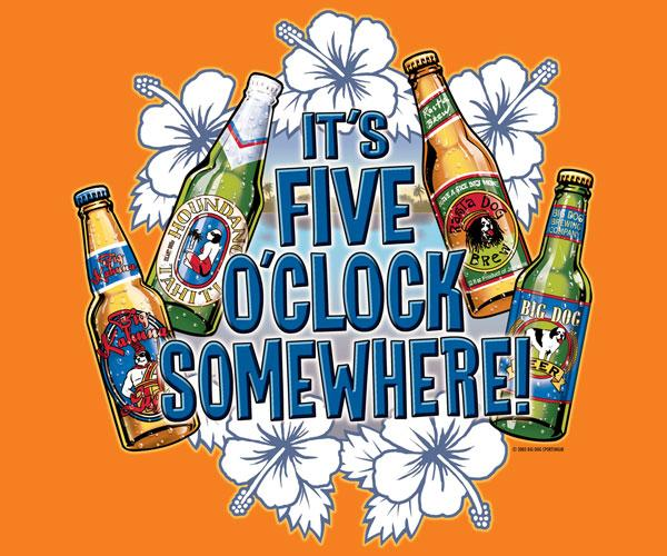 It's Five O'Clock Somewhere T-Shirt 2