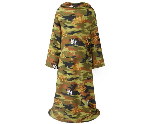 Camo Dogs Wearable Blanket
