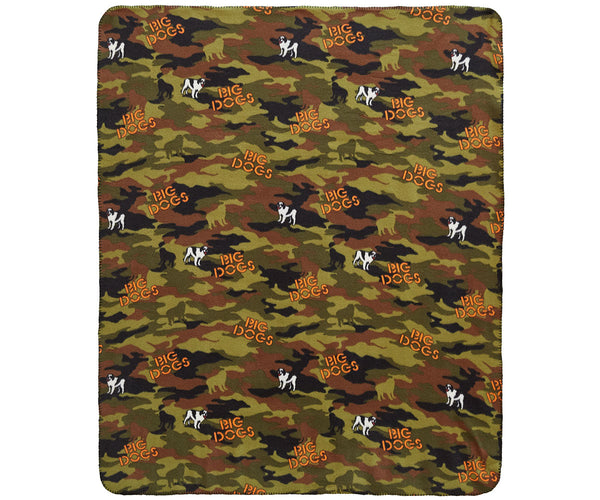 Camo Polar Dogs® Throw Blanket
