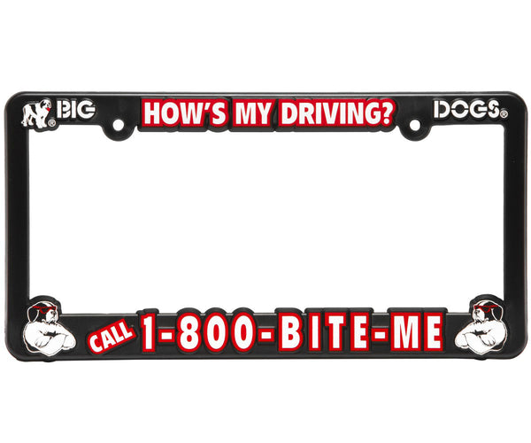 1-800-BITE ME License Plate Frame