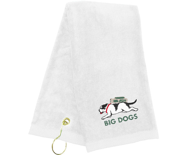Running Dog Golf Towel