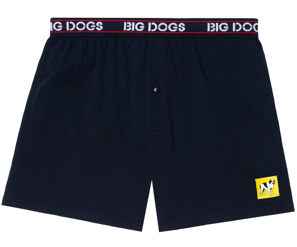 Patch Knit Boxers Black